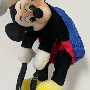 3/$100 - Vintage jumbo Mickey Mouse plush backpack